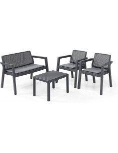 Set de muebles para terraza o jardín 4 piezas Emily Keter