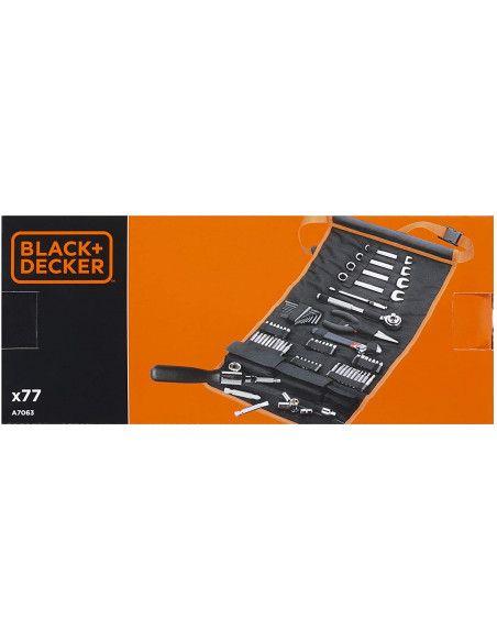 Rollo de nylon con 76 Accesorios para automóvil A7063 Black+Decker BLACK + DECKER - 4