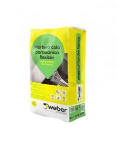 Saco Mortero Cola webercol flex duo lanic 25kg blanco Weber